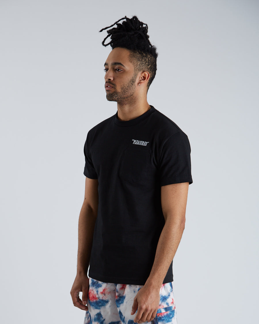 Balance Embroidered Pocket T-Shirt - Black