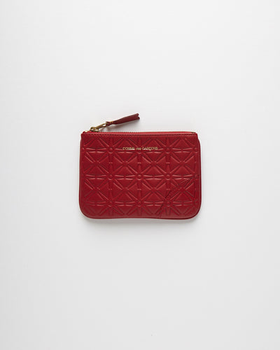 Embossed Leather Line Wallet - Red (SA810E-A)
