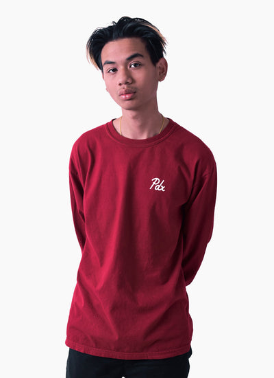 PDX Dyed L/S - Cherry