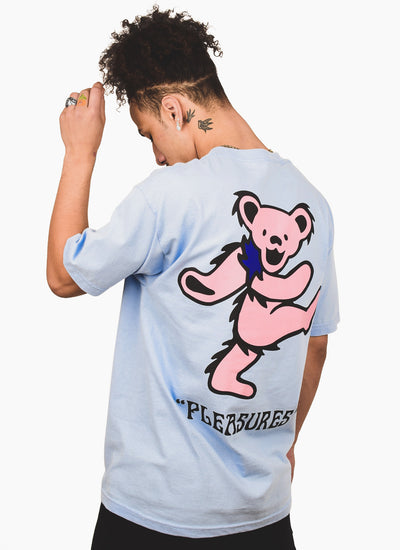 Pleasures x Grateful Dead Bear T-shirt - Powder Blue