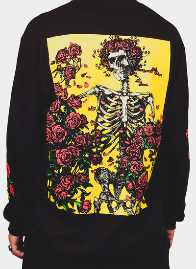 Pleasures x Grateful Dead Bertha T-shirt L/S - Black