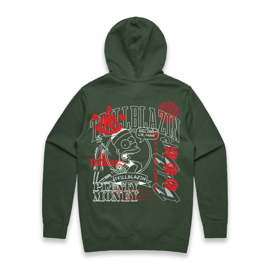 Test Print Hoodie - Hunter Green