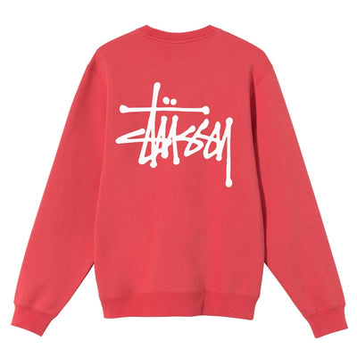 Basic Stussy  Crew - Pale Red