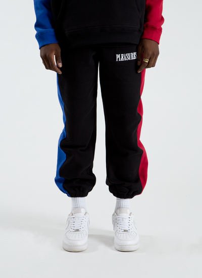 Split Color Sweatpants - Black
