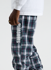 Plaid Athletic Wind Pant - Green