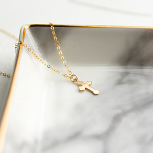 Womens Gold Cross Necklace