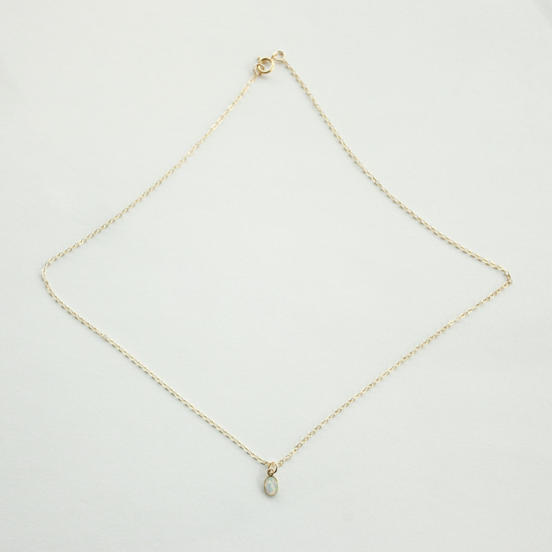 Opal Necklace Simple Gold