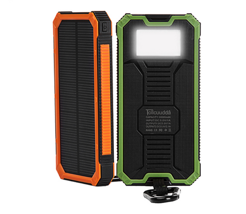 Solar Power Bank - Portable USB Charger