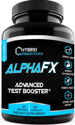 AlphaFX™ - The Natural Test Booster Estrogen Blocker Supplement for Men | Testosterone Booster | Libido Support with Tribulus Terrestris, and Chrysin, for Increased Strength, Stamina and Energy