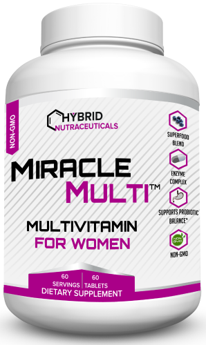 [110+ MiracleMulti Performance Blend] Best Multivitamin for Women | Non-GMO Vitamin Mineral Supplement with Probiotics Superfood Enzyme Blend for Optimized Heart, Stamina, Energy - 60 Day Supply