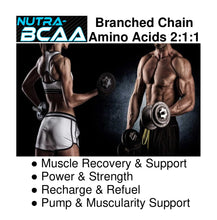 Nutra-BCAA™ Branched Chain Amino Acids 3000mg Tablets, Pre and Post Workout, Non-GMO (40 Servings)