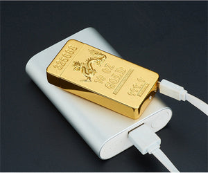Gold Bar Electric Double Arc USB Lighter - Mountainlion