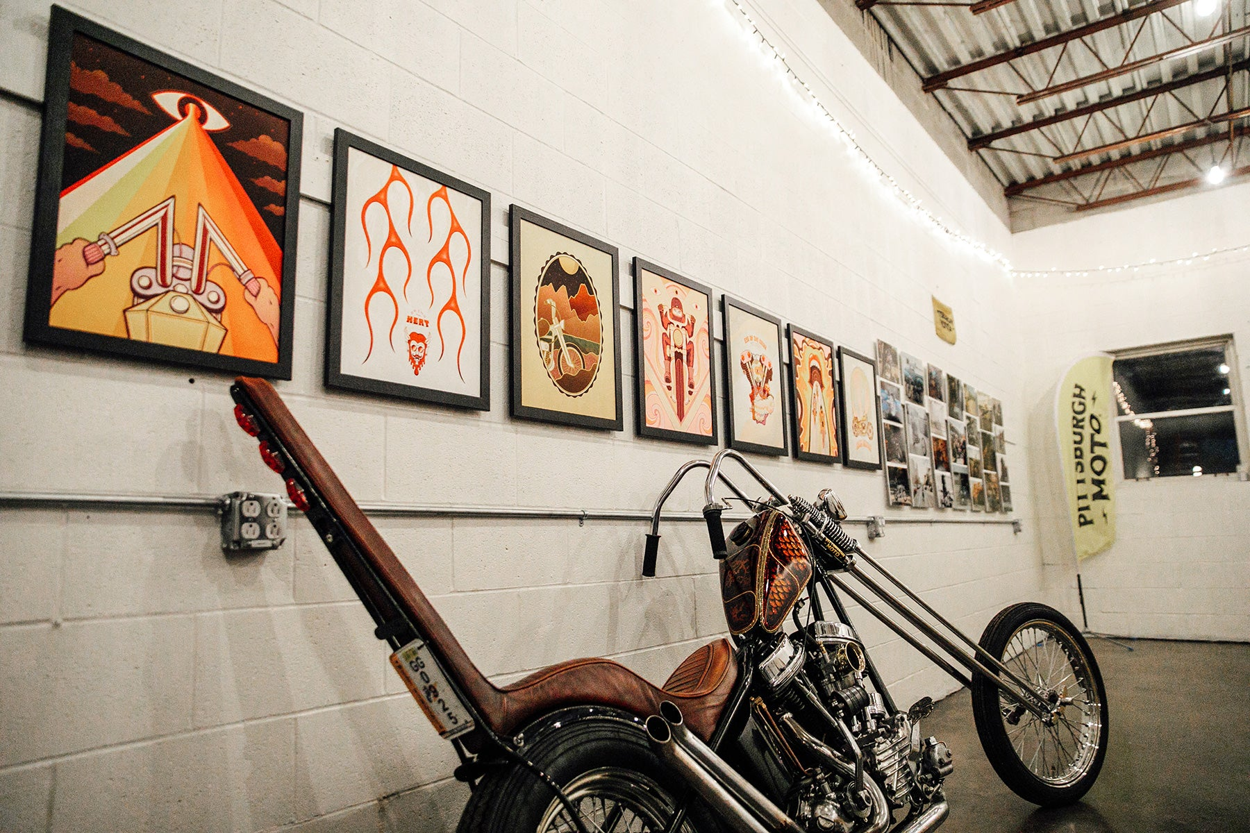 Clientele Art Studio Wheeling Pittsburgh Moto Chopper Motorcycle Art Photography