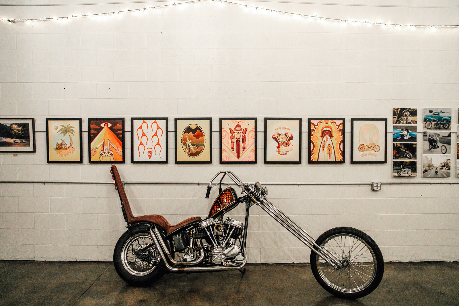 Clientele Art Studio Wheeling Chopper Motorcycle