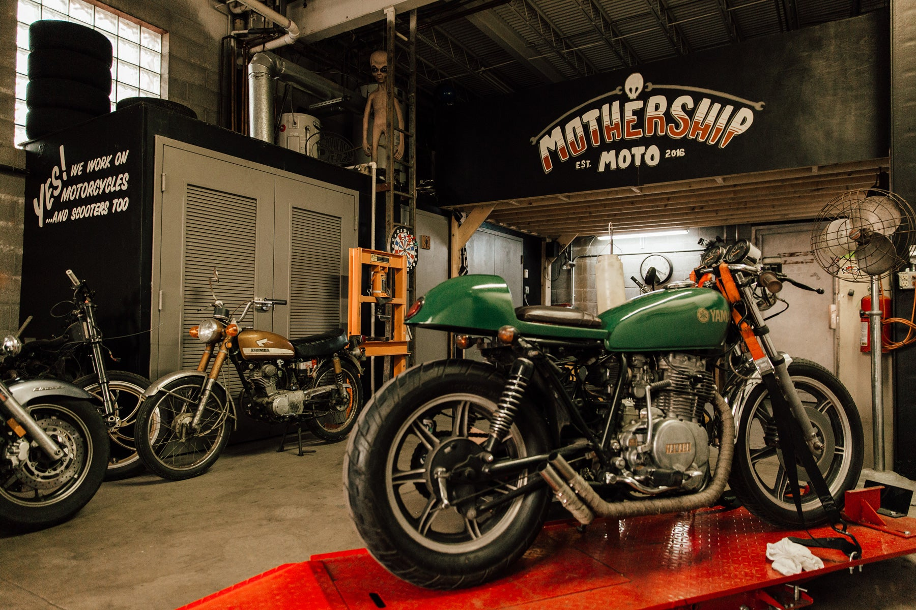 Mothership Moto Repair Shop Motorcycles Pittsburgh Penn Avenue