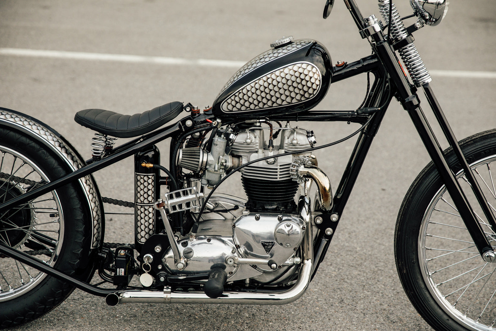 Triumph TR6 Bobber Vintage Motorcycle Pittsburgh