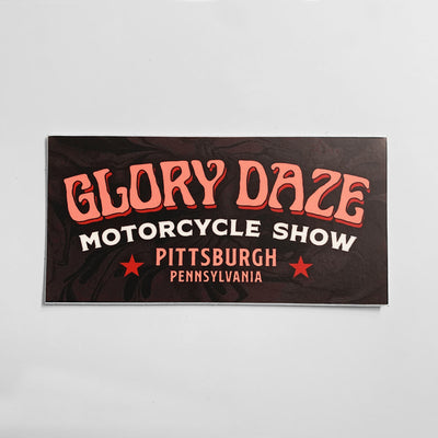 Glory Daze Pittsburgh Sticker