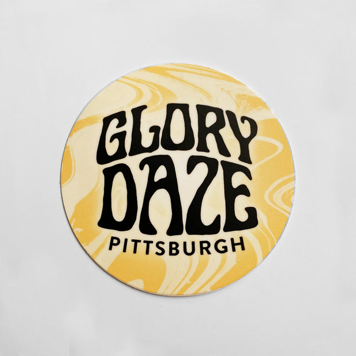 Glory Daze Circle Sticker