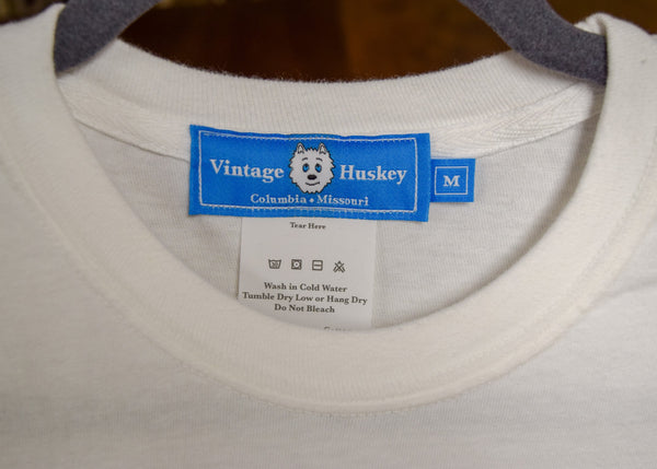 Vintage Huskey Short Sleeve Pocket Tee- Burr Oak Rd