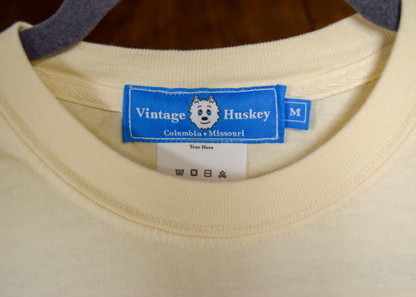 Vintage Huskey Short Sleeve Pocket Tee- Ivory