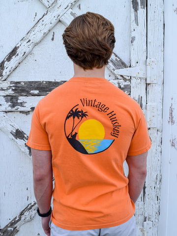 Vintage Huskey Short Sleeve Pocket Tee- Islander