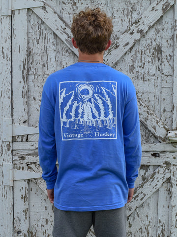 *Pre-Order* Vintage Huskey Long Sleeve Pocket Tee- Campsite