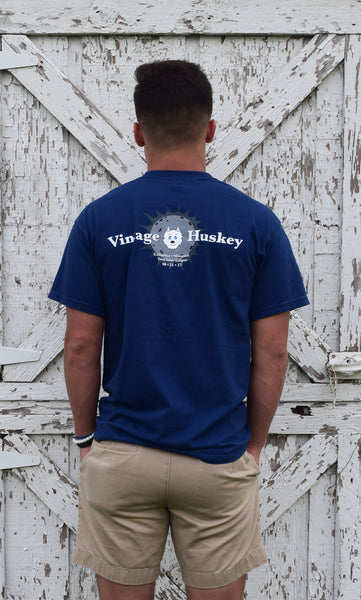 Vintage Huskey Short Sleeve Pocket Tee- LE Eclipse- Navy