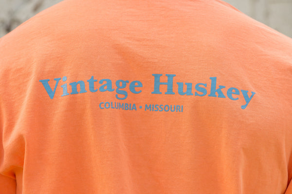 Vintage Huskey Short Sleeve T-Shirt- Orange