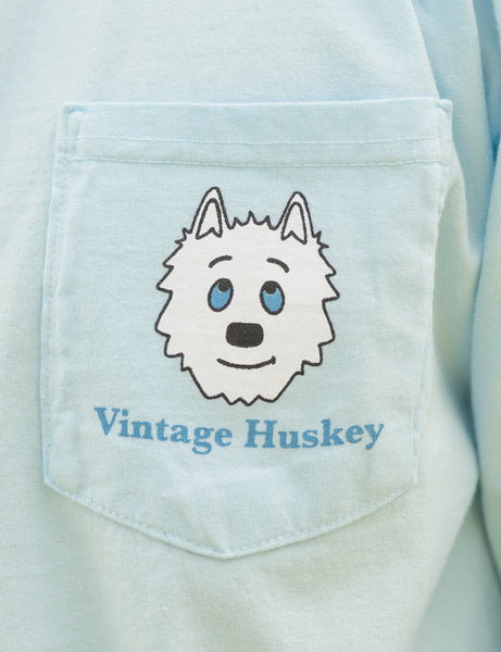 Vintage Huskey Long Sleeve T-Shirt- Chambray