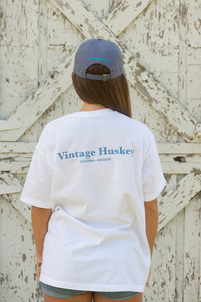 Vintage Huskey Short Sleeve Pocket Tee- LE Launch Day- Chambray