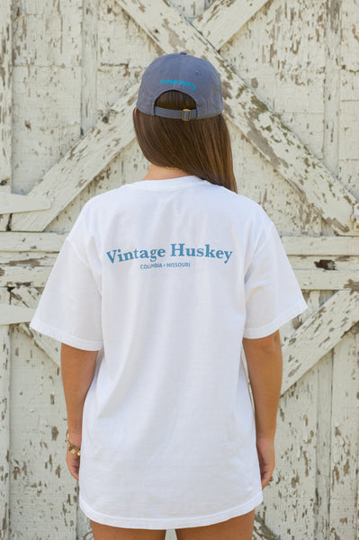 Vintage Huskey Short Sleeve T-Shirt- White