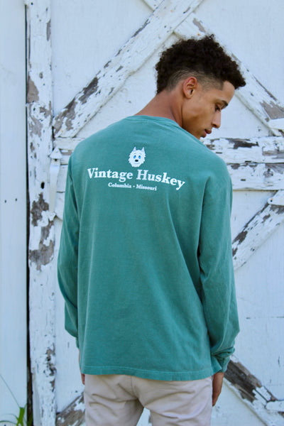 Long Sleeve Pocket Tee- Military Green