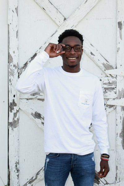Long Sleeve Pocket Tee-White