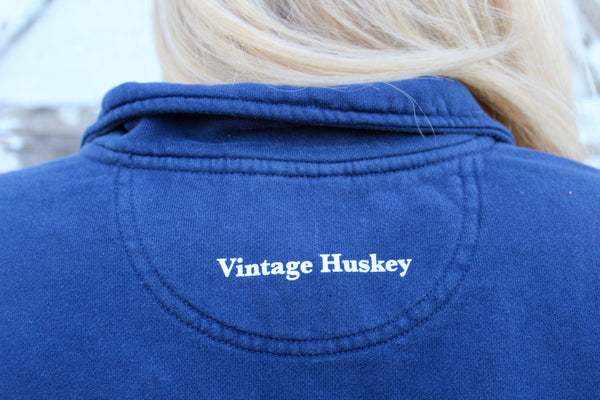 1/4 Zip Fleece Pullover- Navy