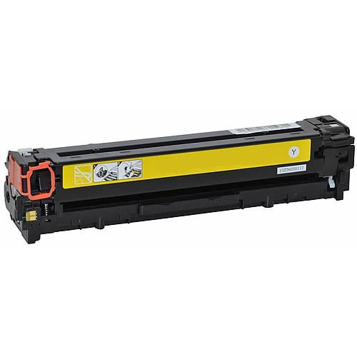 Compatible HP CB542A CE322A CF212A Yellow Printer Laser Toner Cartridge (HP 125 128 131) - Toner King