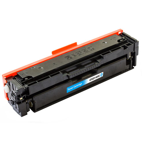 Compatible HP CF401A 201A Cyan Printer Laser Toner Cartridge - Toner King