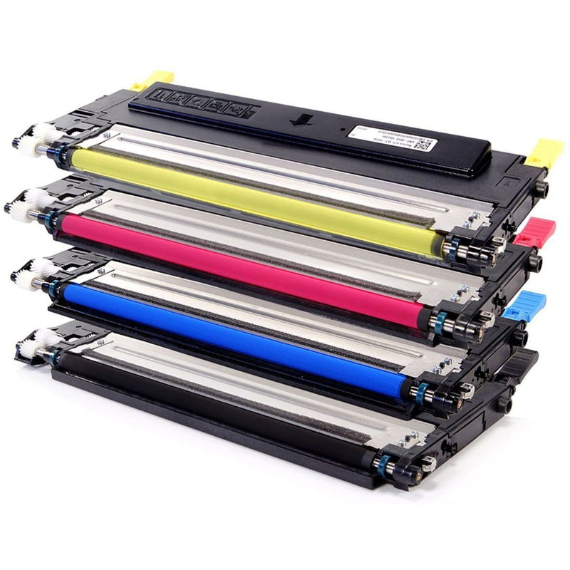 Compatible Samsung CLT-409 Printer Laser Toner Cartridge Set of 4 (Black Cyan Yellow Magenta)