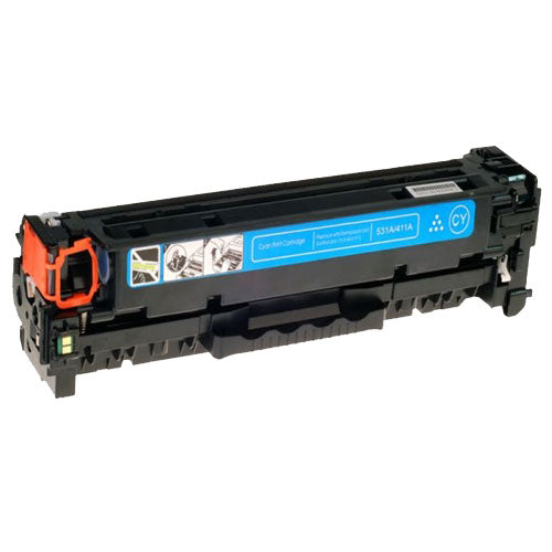 Compatible HP CC531A CE411A CF381A Cyan Printer Laser Toner Cartridge (HP 304A 305A 312A) - Toner King