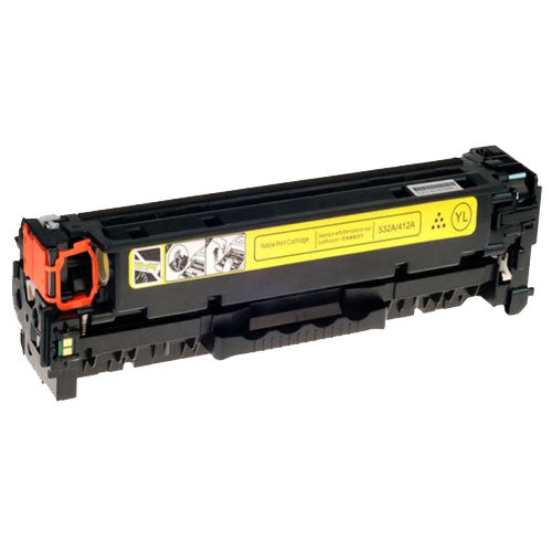 Compatible HP CE412A 305A Yellow Printer Laser Toner Cartridge - Toner King
