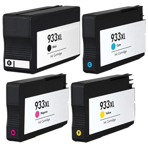 Compatible HP 932XL 933XL Printer Ink Cartridge Set of 4 (Black, Cyan, Magenta, Yellow)