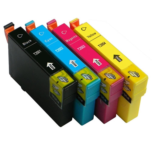 Compatible Epson T200XL T200 Printer Ink Cartridge Set of 4 (Black, Cyan, Magenta, Yellow)