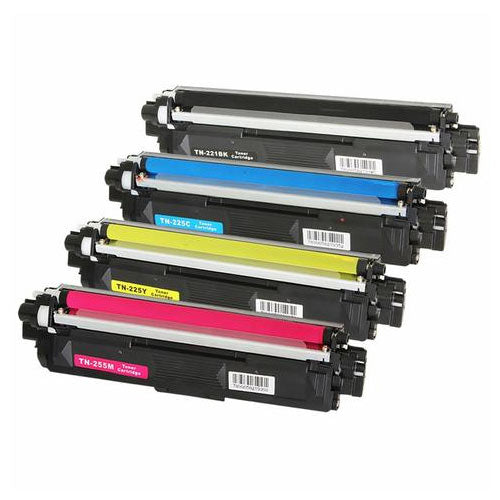 Compatible Brother TN-221 TN221 TN-225 Printer Laser Toner Cartridge Set of 4 (Black, Cyan, Magenta, Yellow)
