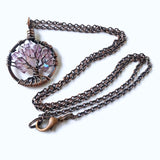 Copper Alexandrite Tree of Life Crystal Necklace (June)