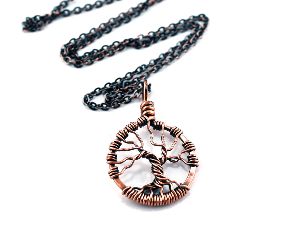 Copper Bare Tree of Life Necklace