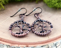 Copper Bare Tree of Life Earrings