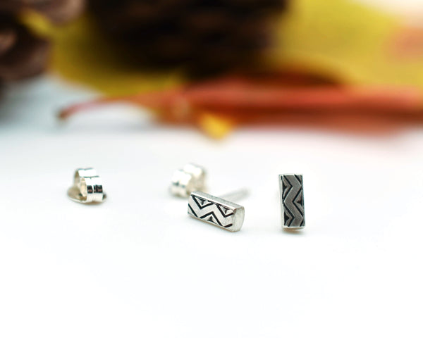 Chevron Bar Earrings