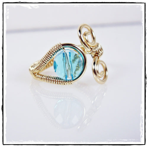 Adjustable Gold Weave Crystal Toe Ring