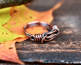 Copper Double Knot Ring for Her