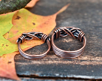 Couples Ring Set in Copper - His and Hers Matching Set