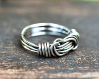 Sterling Silver Knot Ring for Him